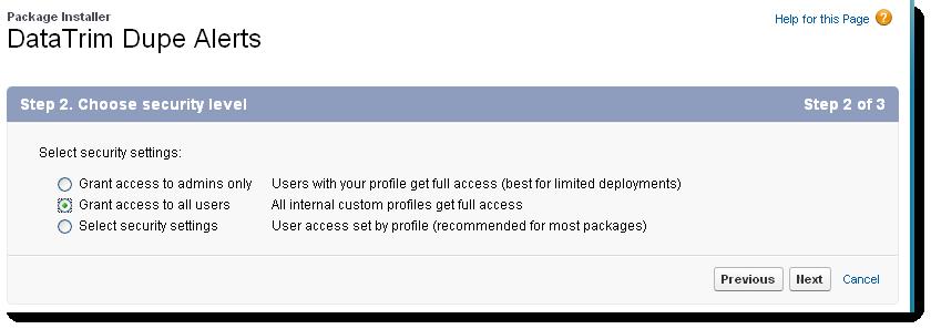 Installl, Grant Access