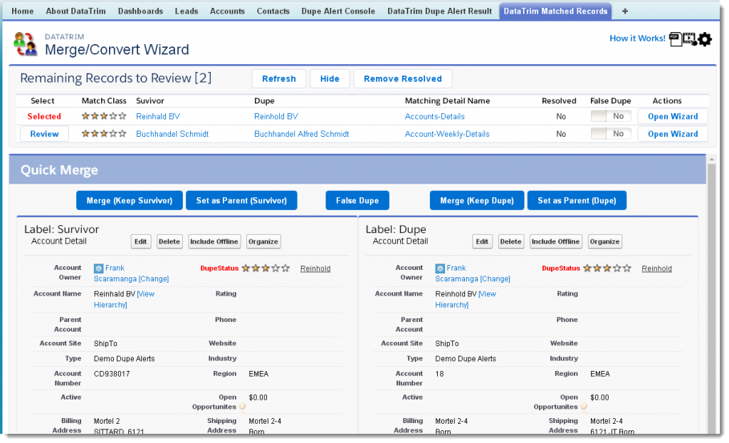 review wizard account
